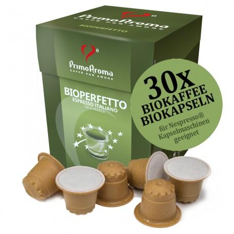 Bioperfetto Biokaffee in der Bioholz-Kapsel | Biologisch abbaubar und kompostierbar
