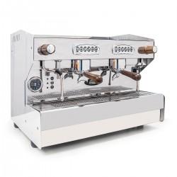 TOP ANGEBOT | SAB Jolly Espressomaschine 2 Gruppen Automatik mit Siebträgergriffe und Hahnknebel Dampf aus Nussbaum-Holz