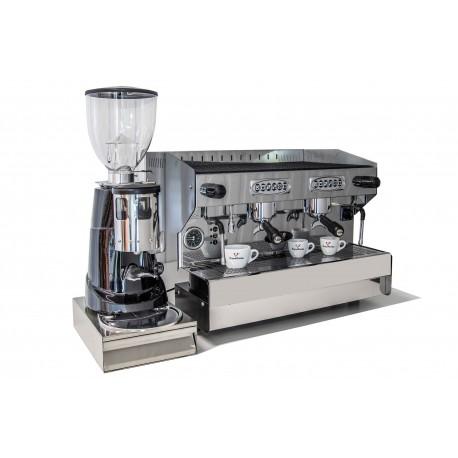 SAB Jolly 2 Gruppen Automatik Edelstahl mit Mühle und Kaffeesatzlade